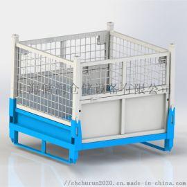 金属网箱 批发常规韩式折叠金属周转箱出口仓储笼
