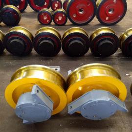 直角箱轨道轮 轴承箱轮 350单边双梁小车车轮