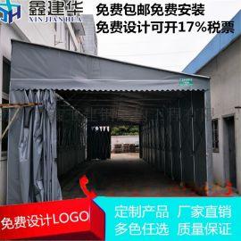 大型仓储雨棚定做移动户外遮阳棚厂家_推拉遮阳仓库篷