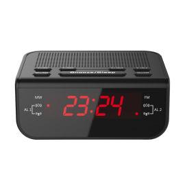 0.6寸LED數位AM/FM多功能鬧鐘控收音機