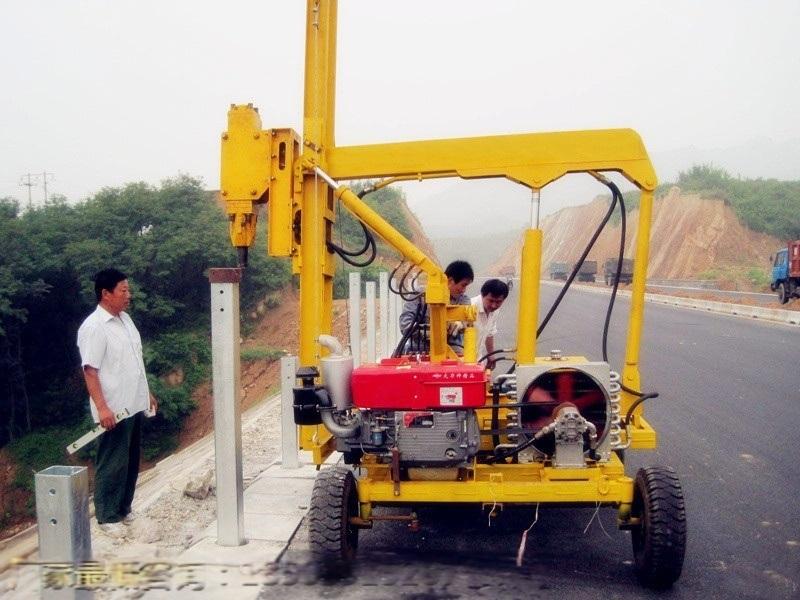天津高速護欄打樁機廠家直銷