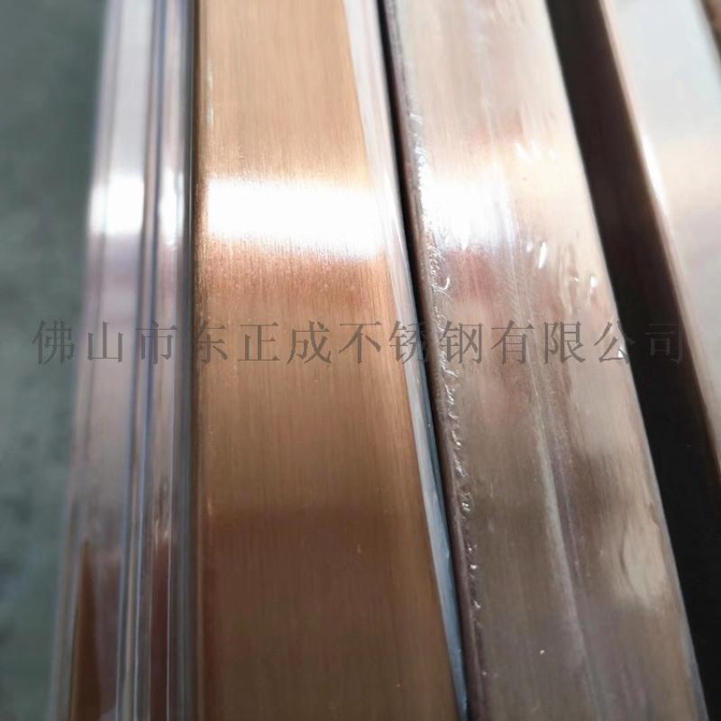 拋光不鏽鋼彩色管 光面304不鏽鋼鈦金管