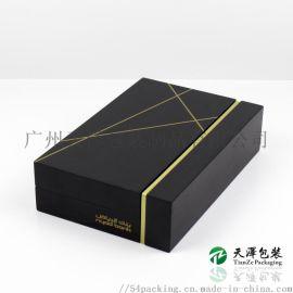 MDF黑色哑光木盒定做手机礼盒收纳盒