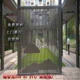 碧桂園入口鋁格柵造型 水池景牆深灰色鋁方通格柵牆