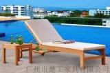 供应室外印尼柚木躺椅,木质沙滩床
