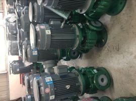 卧龙泵阀钢衬氟塑料离心立式管道泵酸泵碱泵