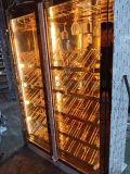 大堂餐廳玫瑰金不鏽鋼紅酒櫃家用恆溫別墅地下室