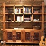 牛仔部落 红胡桃木实木书柜北欧艺家实木家具定做