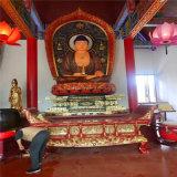 宮廟彩繪三寶佛製作 貼金三寶佛雕塑生產廠家
