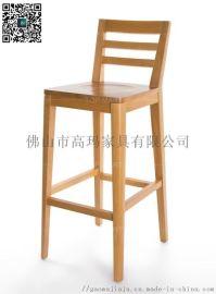 实木复古酒吧台椅子  高脚吧凳 高吧椅