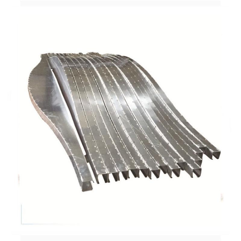 木紋弧形鋁方通廠家直銷幕牆吊頂天花異形鋁方通定製