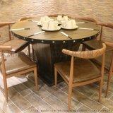 餐厅餐桌餐椅,工业风铁木餐桌,哪家餐桌椅好