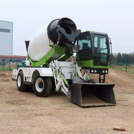 混凝土自动上料搅拌运输车 4方自动上料搅拌车