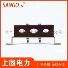 三孔防涡流电缆夹具3孔PMC胶木绝缘预分支固定夹