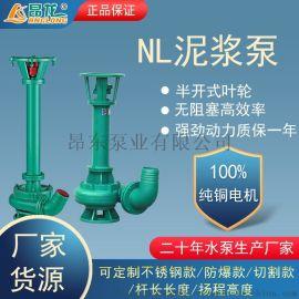 NL液下立式污水泥浆泵 粪便污泥鱼塘清淤