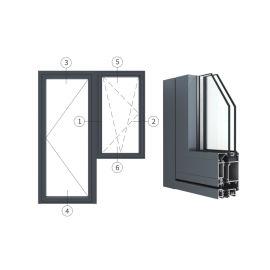 广东兴发铝材创高AL5418A|B系列门带窗