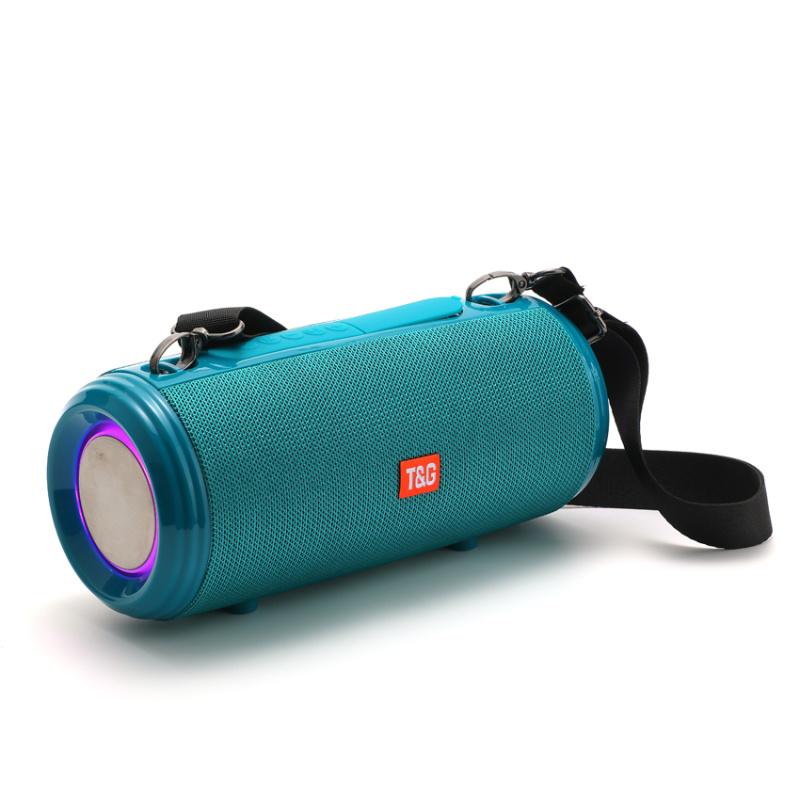 高音質布藝揹帶藍牙無線收音音箱TG537跑馬燈音響