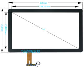触控屏 云上触摸屏厂家 24寸电容屏 串口屏