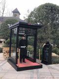 瀘州移動廁所 金屬雕花崗亭 碳噴漆崗亭藝術崗亭
