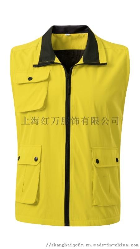 上海红万服装多口袋马甲 多功能马甲定制