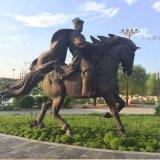 厂家定制铸铜仿古人物雕塑公园景点雕塑摆件
