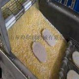 汉堡鸡排上粉机 汉堡鸡排裹糠机 鸡排浸浆机