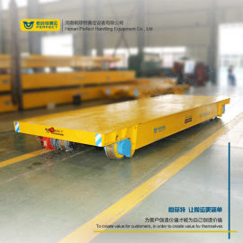 機械設備搬运有轨电动平车重型检测儀器搬运轨道过跨车