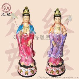 日耀菩薩 藥師傅 彩繪東方三聖雕像 神像佛像廠家