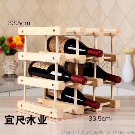 山东创意红酒架子木质红酒架 时尚欧式红酒架