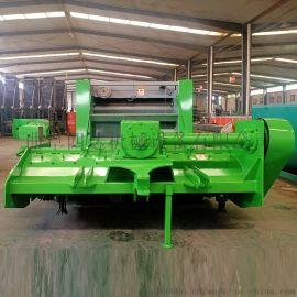 水稻秸秆方捆拾草机 拖拉机带动的方捆打包机