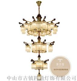 新中式吊灯要怎么选-铜木源灯饰招商