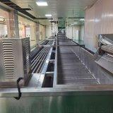 小龍蝦蝦尾連續包冰機設備,雞肉丸子噴霧包冰機器