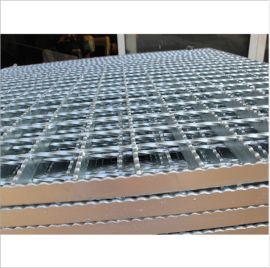 平台踏步压焊钢格板 防滑齿型钢格板 平台压焊格栅板