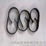 祁门县生产配线厂用R型不锈钢浸塑线夹 Φ18规格
