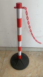塑料加重隔离围栏挂链警示柱停车场隔离桩