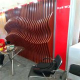 西餐廳吊頂弧形木紋鋁方通 防火仿木紋造型鋁方通