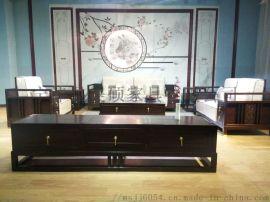 新中式金丝檀木纯手工实木沙发