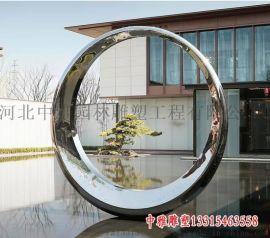 不锈钢圆环景观雕塑