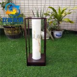 房地產戶外仿雲石柱頭燈定製簡約紫銅拉絲草坪燈