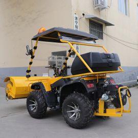 捷克驾驶式清雪车 市政扫雪机 小型四轮破冰扫雪车