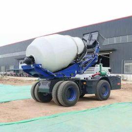 3.5立方自上料搅拌罐车 多功能混凝土搅拌车