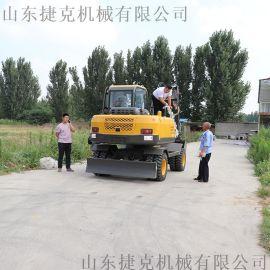全新小型轮式挖掘机 捷克 80轮挖小挖机