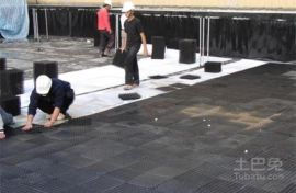 地下车库顶用塑料排水板 黑色排水板厂家