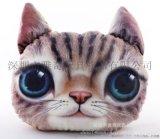 定制卡通动物猫头抱枕 创意动漫异形抱枕