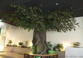 南京水泥树仿真水泥树假树榕树桃花树餐厅仿真树