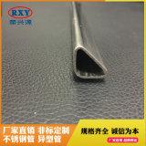 广东佛山拉丝不锈钢异型管304,不锈钢拉丝三角管