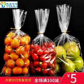 无孔2斤零食饼干包装袋水果保鲜袋透明