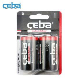 1号D型碳性电池1.5V手电筒R20P一次性干电池