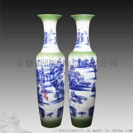 景德镇手绘陶瓷大花瓶-青花瓷花瓶生产定做厂家