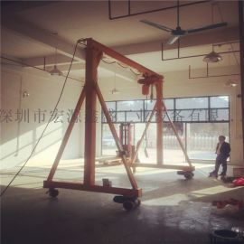 1T可移动简易龙门吊 可行走电动小型家用龙门架批